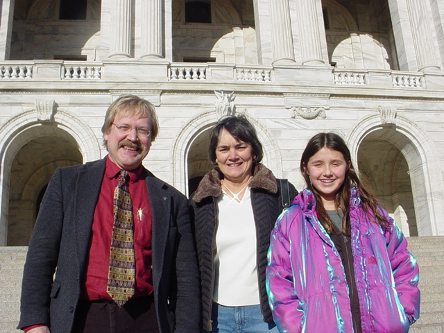 Rep. Bly with guests at the Capitol